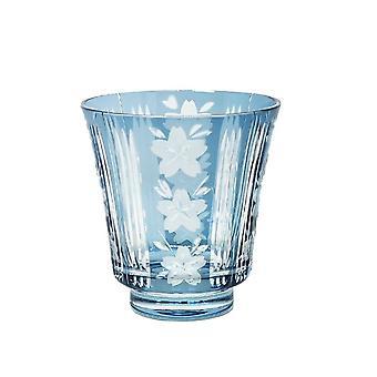 1pcs Japanischer Stil Weingläser Hand geschnitten Altmodisches Whisky Glas Schnaps Glas Sake Cup (Blau)