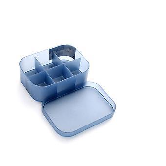 4Pcs איפור מארגן תיבת תכשיטים שרשרת ציפורניים לק עגיל פלסטיק איפור תיבת הבית שולחן העבודה