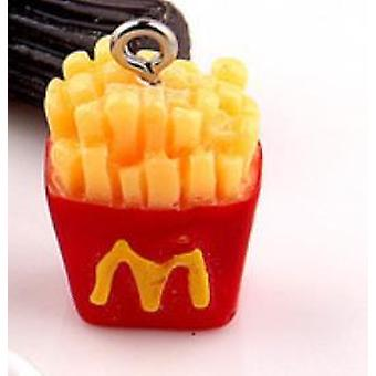 Fles French Fries Cup Charms, Drink Food Hanger Earring
