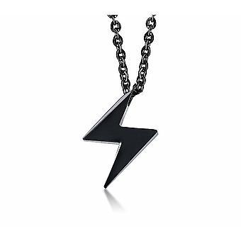 - Jag är inte så bra på att se vad jag  Geometrisk charm Män Kvinnor Rostfritt Stål Zig Zag Lightning Symbol Hänge Halsband