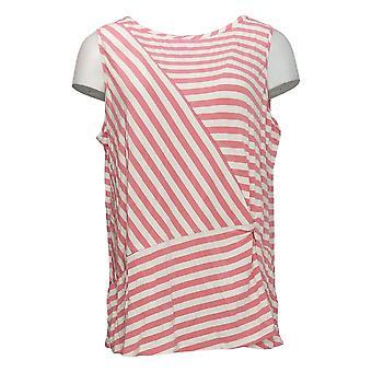 Cuddl Duds Women's Plus Top Softwear Stretch Twist Front Pink A373510