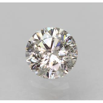 معتمد 0.36 قيراط G SI2 جولة رائعة تعزيز الماس الطبيعي 4.58m EX CUT