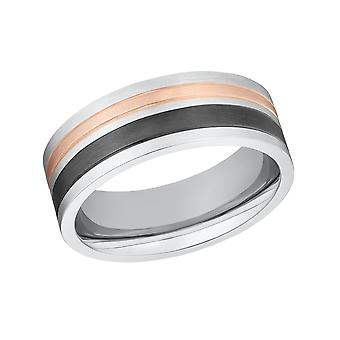 s.Oliver Jewel Herren Ring Edelstahl bicolor 203255