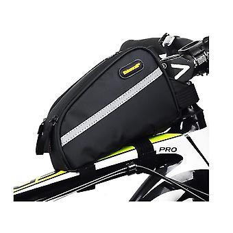 الدراجة الرف حقيبة دراجة حقيبة العارضة ماء الدراجة مثلث كيس لتخزين العناصر الصغيرة، أنيقة والمحمولة، مع جاك سماعة الرأس (الأخضر)