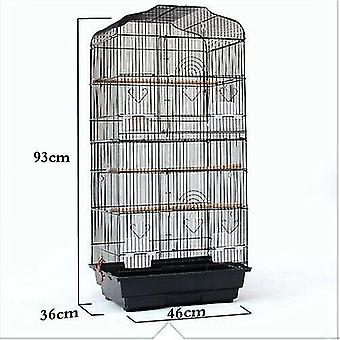 """Bird cages stands black 37"""" rooftop metal large bird parrot cage for canary budgie cockatiel in 2 colour"""