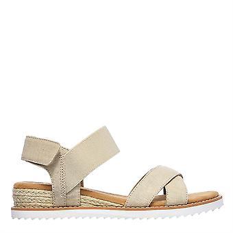Skechers Femmes BOBS Desert Kiss Secret Pique-nique Sandales plates Chaussures Confort d'été