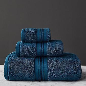 3 Stück Set aus 100% ägyptischer Baumwolle Badetücher (3pcs Handtuch Set) (2)