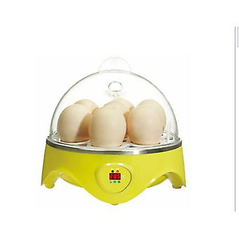 Mini incubadora 7 capacidad de huevo automática digital pollo pato pájaro hatch tool 110v-240v