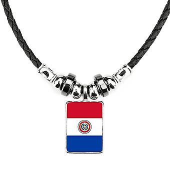 פרגוואי דגל לאומי דרום אמריקה שרשרת מדינה