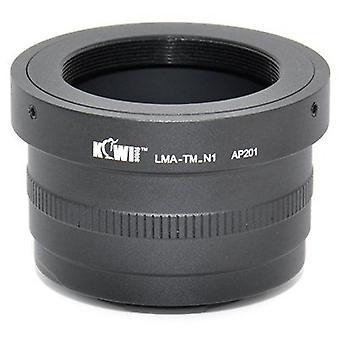 Kiwifotos objektív Mount Adapter: umožňuje T mount objektívy (ďalekohľady, mikroskopy, zväčšovače, mechy jednotky atď), ktoré majú byť použité na akomkoľvek Nikon 1 Series Camera (J1, J2, v1, v2)