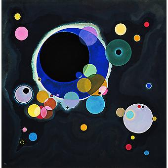 Wassily Kandinsky - Several Circles Poster Print Giclee