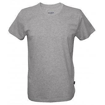 Jockey USA originale amerikanische Rundhals T-Shirt, Heather Grey