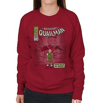 Quailman No More Doug Comic Superhero Women's Sweatshirt