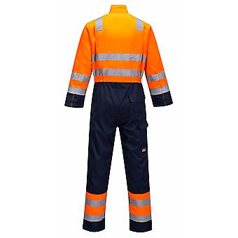 sUw - Modaflame RIS Hi-Vis Safety Workwear Coverall Boilersuit