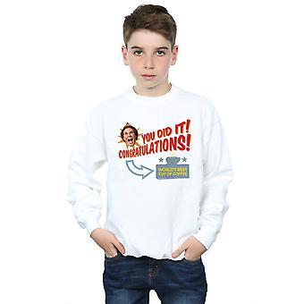 Meilleur café Sweatshirt Elf garçons au monde
