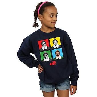 Elf Girls Four Faces Sweatshirt