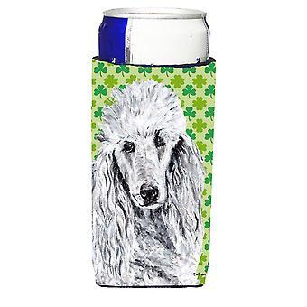 White Standard Poodle Lucky Shamrock St. Patrick's Day Ultra Beverage Insulators
