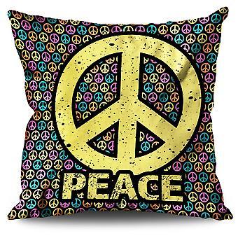 Peace Pattern Art Linen Cushion Peace Pattern Art | Wellcoda