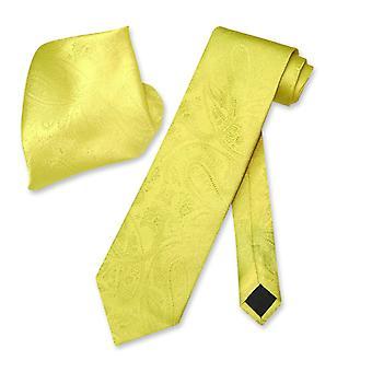 Vesuvio Napoli PAISLEY Krawatte & Taschentuch passende Männer Hals Krawatte Set