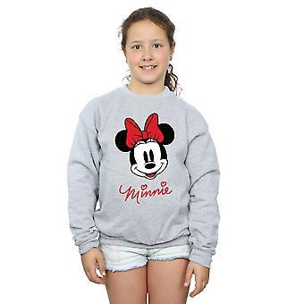 Disney-Mädchen-Minnie Mouse-Gesicht-Sweatshirt