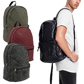 Urban classics - faux leather quilted pattern backpack bag