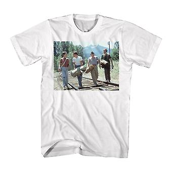 Stand By Me In A Line Men's White T-shirt