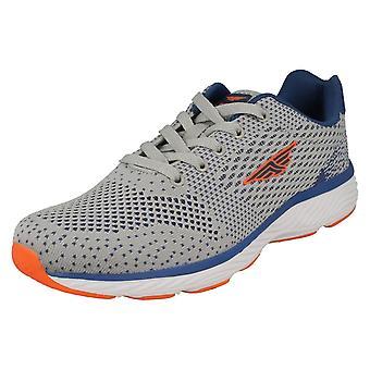 Mens Redtape Casual Sports Trainer RSC0038 - Grey Textile - UK Size 9 - EU Size 43 - US Size 10