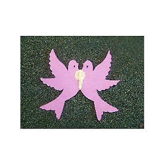 Dekoration Papier Liebe Tauben lila (1)