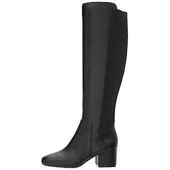 تو بندولينو النسائي فلوري الجلود ساحة الركبة عالية أزياء أحذية
