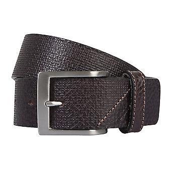 OTTO KERN belts men's belts leather belt dark brown 2188