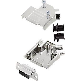 encitech D45ZK09-DBS-K 6355-0003-11 D-SUB receptacle set 45 ° Number of pins: 9 Solder bucket 1 Set