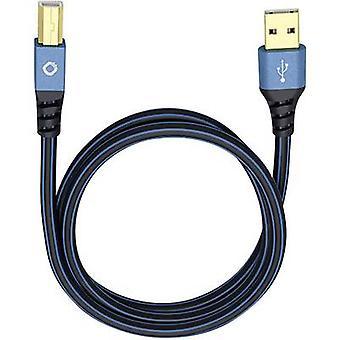 Cable USB 2.0 [1conector USB 2.0 A - 1conector USB 2.0 B] 10,00 m Conectores chapados en oro azul Oehlbach USB Plus B