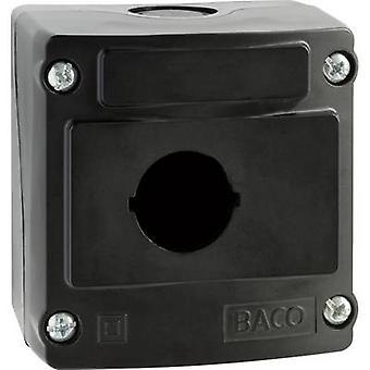 Baco LBX0100NR Enclosure 1 slots de instalação (L x W x H) 74 x 74 x 47,9 mm Black 1 pc (s)