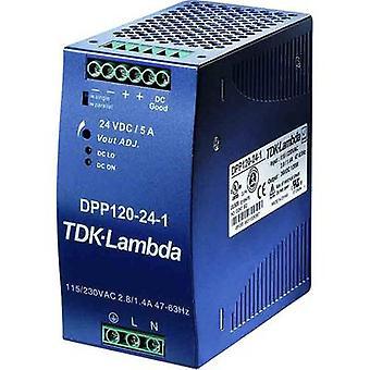 TDK-Lambda DPP-120-12-3 السكك الحديدية التي شنت PSU (DIN) 12 V DC 10 A 120 W 1 x
