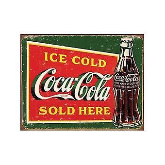 Imán de nevera de acero fría de hielo Coca Cola