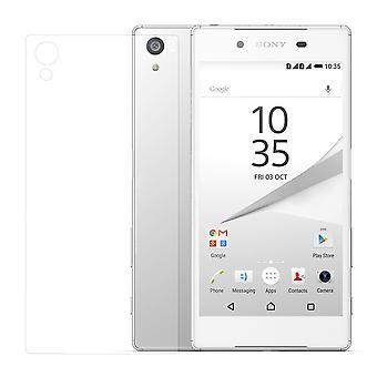 Sony Xperia Z5 tank beskyttelse glass tilbake rygg rygg glass ekte glass gjennomsiktig