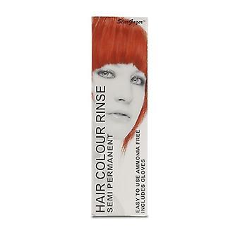Hiusten väri kuuma punainen