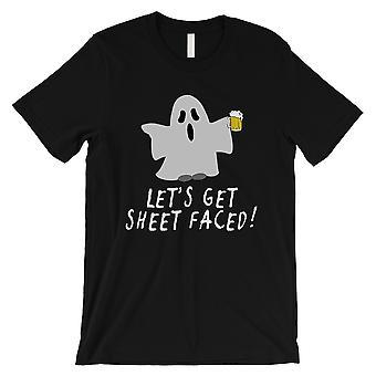 دعنا ورقة تواجه القميص الأسود رجالي