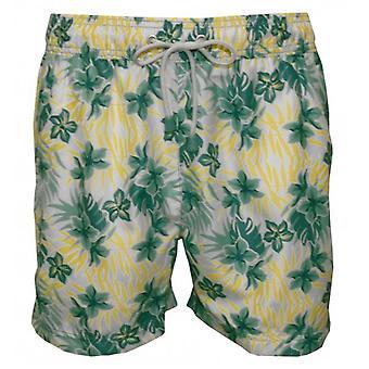 Масленка & котел Tuckernuck классический Гавайские цветочные плавать шорты, зелень