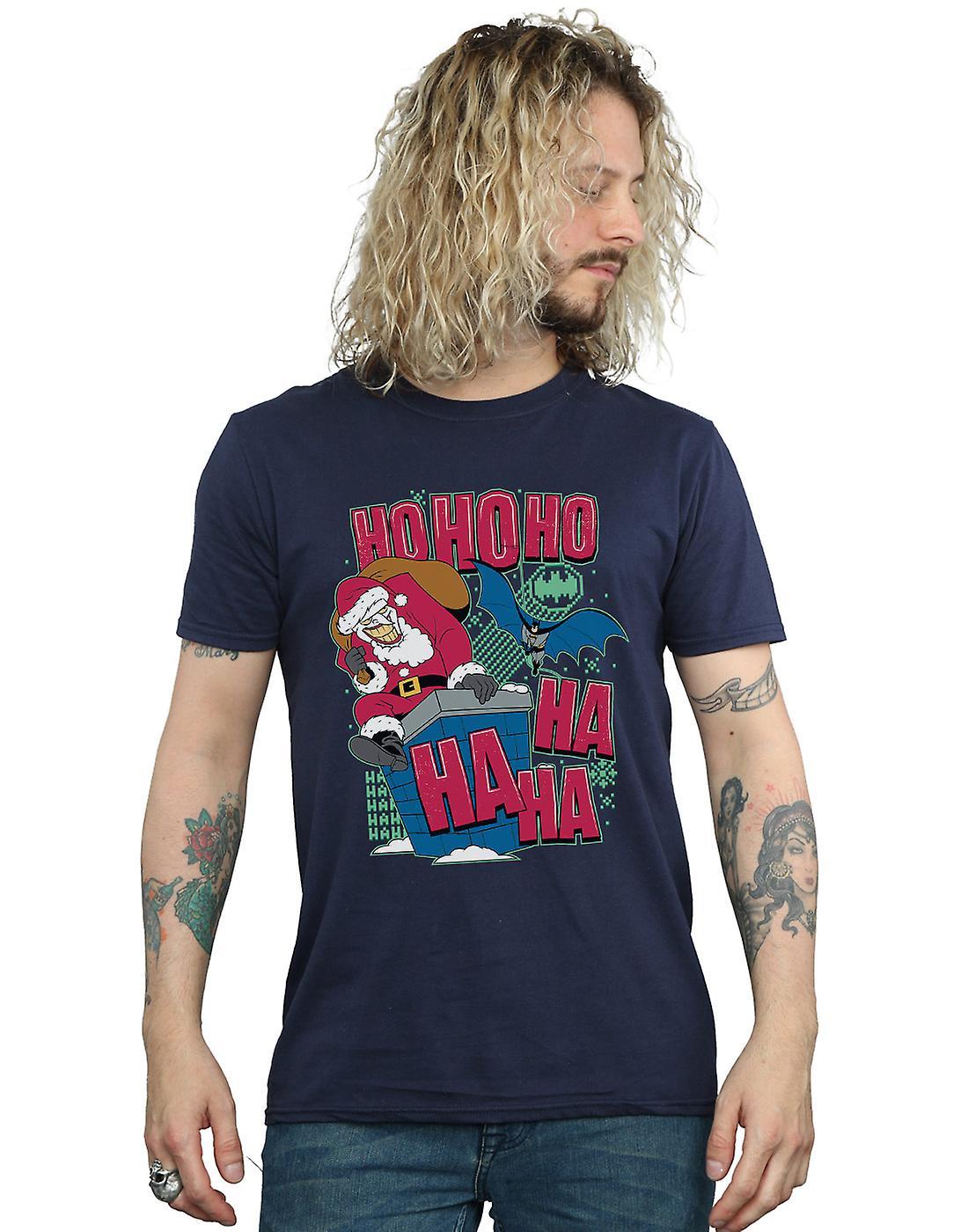 DC Comics Men's Batman And Joker Ha Ha Ha Ho Ho Ho T-Shirt