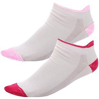 2 Pair Pack of Prince Womens Tennis Ankle Trainer Low Cut Sport Socks - 4-8UK
