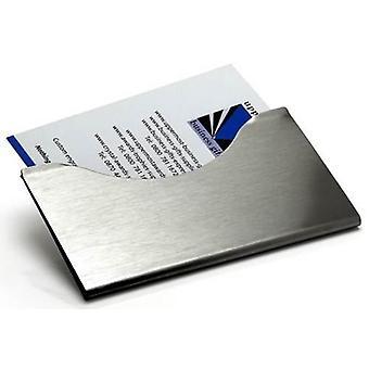 David Van Hagen geborsteld staal visitekaartje houder - Zilver