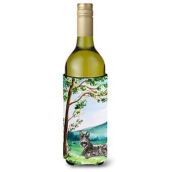 Onder de boom Schotse Terriër wijnfles drank isolator Hugger