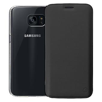 Muvit slim case, flip cover crystal case for Samsung Galaxy S7 Edge - Black