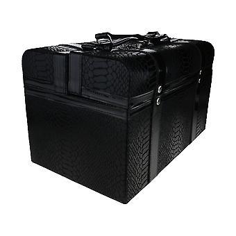 Lancome Faux Leather Makeup Train Case With Dust Bag (EMPTY BOX)