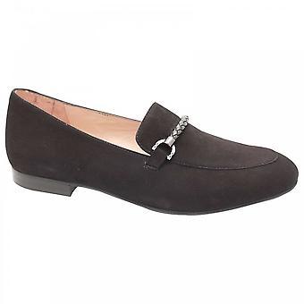 Perlato Classic Black Suede Moccasin Shoes