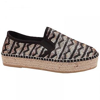 Toni Pons Flatform Sequin Espadrille Shoe