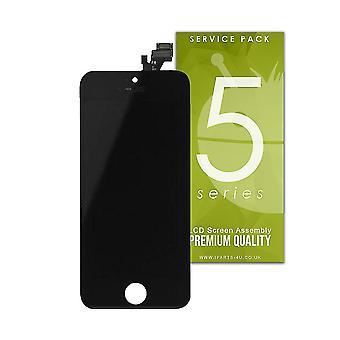 För iPhone SE - LCD skärmen montering - svart - premiumkvalitet
