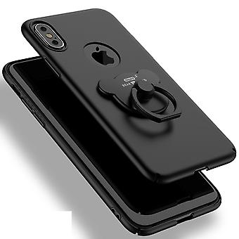Matte black case with ring holder - iPhone X