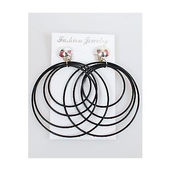 Jewelry and crowns  Disco earrings black